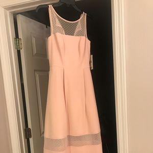 Blush ankle length dressy dress or bridesmaids